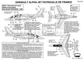 BD72104 Alpha Jet E Patrouille de France 1993