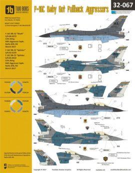 TB32067 F-16C Block 32 Fighting Falcon Aggressors