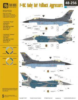 TB48256 F-16C Block 32 Fighting Falcon Aggressors