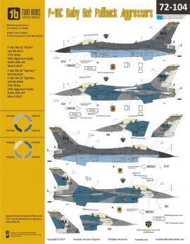 TB72104 F-16C Block 32 Fighting Falcon Aggressors