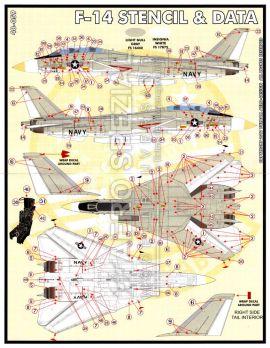 FBD48059 F-14 Tomcat Stencils und allgemeine Markierungen