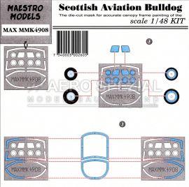 MMK4908 SA Bulldog Maskierfolie für Cockpithaube und Räder