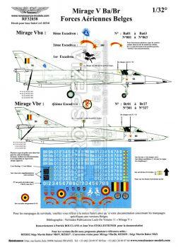 RF32038 Mirage 5BA/BR Belgian Air Force