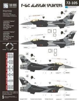 TB72105 F-16C Block 30 Fighting Falcon Alaskan Splinters