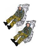 AB32100 Pilot and WSO U. S. Navy/Marines in Ejection Seats