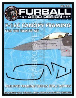 FBD48062 F-16C Fighting Falcon Black Canopy Seals