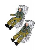 AB32110 Pilot and WSO U. S. Navy in Ejection Seats for F-14A/B Tomcat