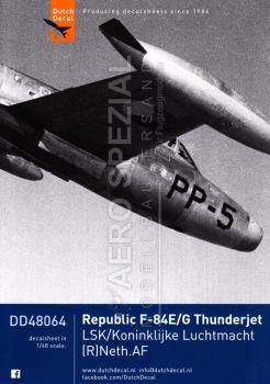 DD48064 F-84E/G Thunderjet, niederländische Luftwaffe