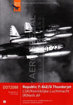 DD72088 F-84E/G Thunderjet, niederländische Luftwaffe