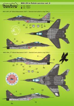 MOD72007 MiG-29A/G/GT Fulcrum polnische Luftwaffe