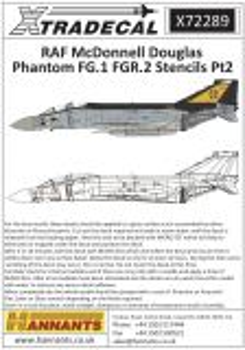 XD72289 Phantom FG.1/FGR.2 Stencils (graue Maschinen)