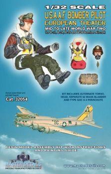 MD32054 Bomberpilot U.S.A.A.F. WK II europäische Kriegsschauplätze