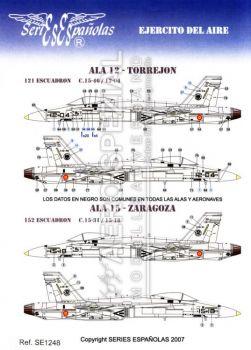 SE1248 EF-18A/B Hornet spanische Luftwaffe