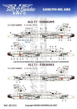 SE1272 EF-18A/B Hornet spanische Luftwaffe