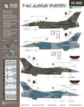 TB32069 F-16C Block 30 Fighting Falcon Alaskan Splinters Teil 2