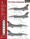 TB48261 F-16C Block 40 Fighting Falcon 100 Years of Flying Fiends