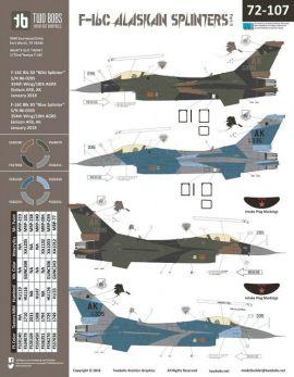 TB72107 F-16C Block 30 Fighting Falcon Alaskan Splinters Part 2