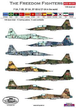 ACD48016 F-5 Freedom Fighter im weltweiten Einsatz