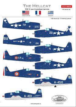 ACD48020 F6F-5 Hellcat Im Kriegs- und Nachkriegseinsatz