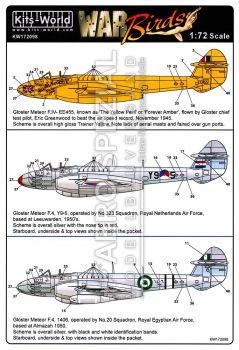 KW72098 Meteor F.4: Großbritannien, Niederlande & Ägypten