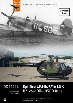 DD32034 Spitfire LF.IX & Bo 105, niederländische Luftwaffe