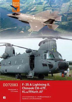 DD72083 CH-47F Chinook & F-35A Lightning II, niederländische Luftwaffe