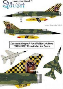SY72060 Mirage F1JA Sonderanstrich Luftwaffe Ecuadors
