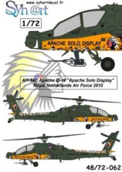 SY72062 AH-64D Longbow Apache Solo Display 2010