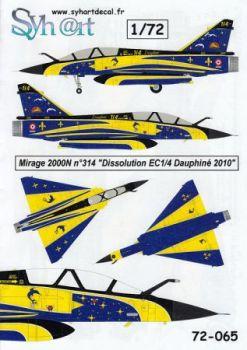 SY72065 Mirage 2000N Sonderanstrich Auflösung EC1/4 Dauphine
