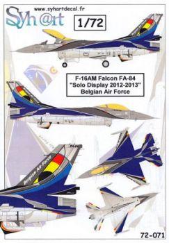 SY72071 F-16AM Fighting Falcon BAF Solo Display Team 2012-2013