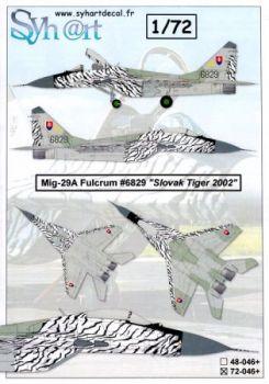 SY72046 MiG-29 Fulcrum-A Slovak Tiger