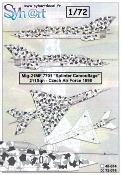 SY72074 MiG-21MF Fishbed-J Splintertarnung
