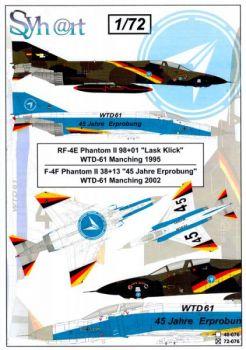 SY72076 F-4F Phantom II & RF-4E Phantom II Sonderanstriche WTD 61