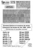 SY72907K French Air Force Registrations and Serials, 1995-2010 (Black & Grey)