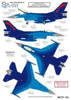 SY72101 F-16A Fighting Falcon No. 1 & No. 2 Sqn belgische Luftwaffe