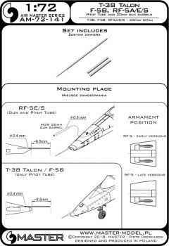 AM72141 F-5B Freedom Fighter, RF-5A/E/S Tigereye & T-38 Talon MK-Rohre und Staurohr