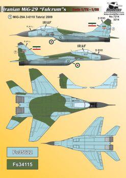 KMA7214 MiG-29 Fulcrum iranische Luftwaffe