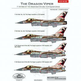 ACD48022 F-16A Netz & F-16C Block 30 Barak israelische Luftwaffe