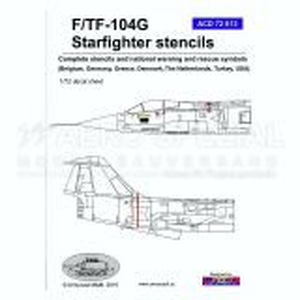 ACD72013 F/TF-104G Starfighter Stencils