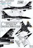 SY48110 F-16AM Fighting Falcon Solo Display Dark Falcon