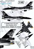 SY72110 F-16AM Fighting Falcon Solo Display Dark Falcon