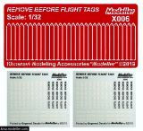KMAX3206 Remove before Flight Flags