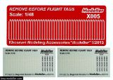 KMAX4805 Remove before Flight Flags