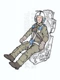 AB32138 Jet Pilot NATO in Martin-Baker GQ.7A Ejection Seat for F-104G/S Starfighter