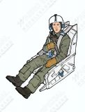 AB32139 Jet Pilot U.S. Air Force in Ejection Seat for F-86 Sabre