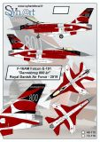 SY48118 F-16AM Block 5-10 Fighting Falcon Dannebrog 800 Jahre