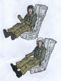 AB32148 Pilot and WSO U.S. Navy/U.S. Marines in Ejection Seats for F/A-18D Hornet