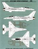 SHG48027 F-16C/D Fighting Falcon Stencils of 5th Generation (Have Glass Finish)