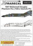 XD48197 Phantom FG.1/FGR.2 Stencils in Black and Red