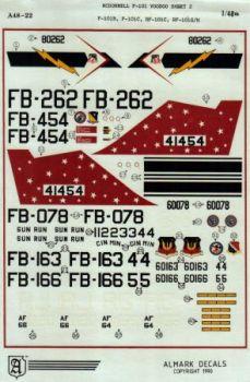 AA4822 F-101B/C/RF-101C/G/H Voodoo